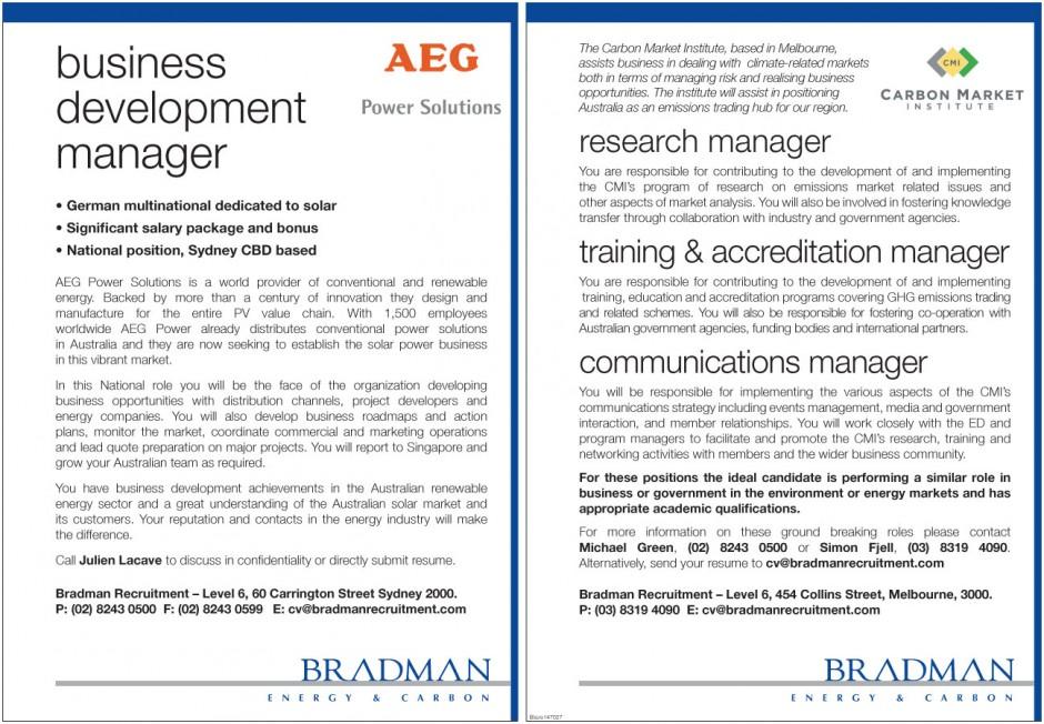 Recent Assignments - Bradman Recruitment Group