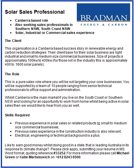 Bradman Carbon & Energy Recruitment
